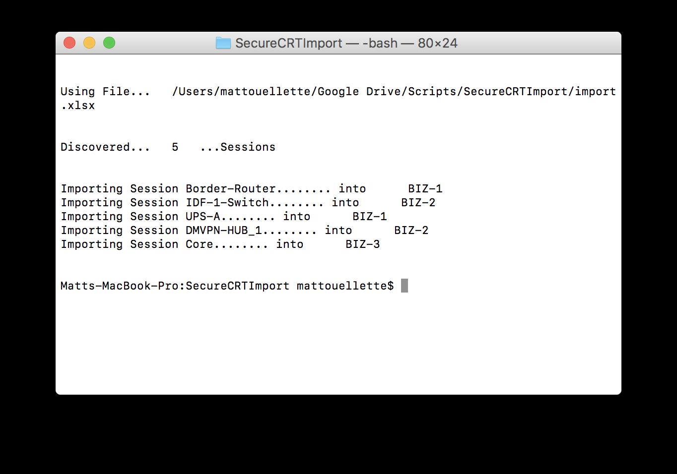 Python + XLRD SecureCRT Import – Packet Pilot